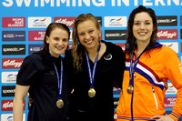 2014 Open Medals - Women's 100m Freestyle 001